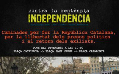 Divendres, 25 d'octubre manifestació a la plaça de Catalunya